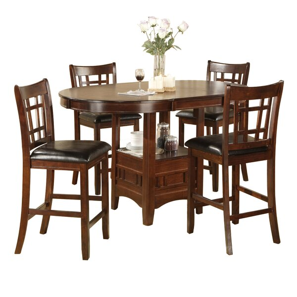 Degraffenreid 5 Piece Counter Height Dining Set by Hazelwood Home