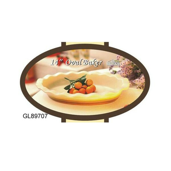 Oval Porcelain Bakeware by ESSENTIAL DÉCOR & BEYOND, INC