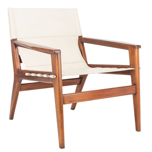 Digby Leather Sling Chair By Bayou Breeze
