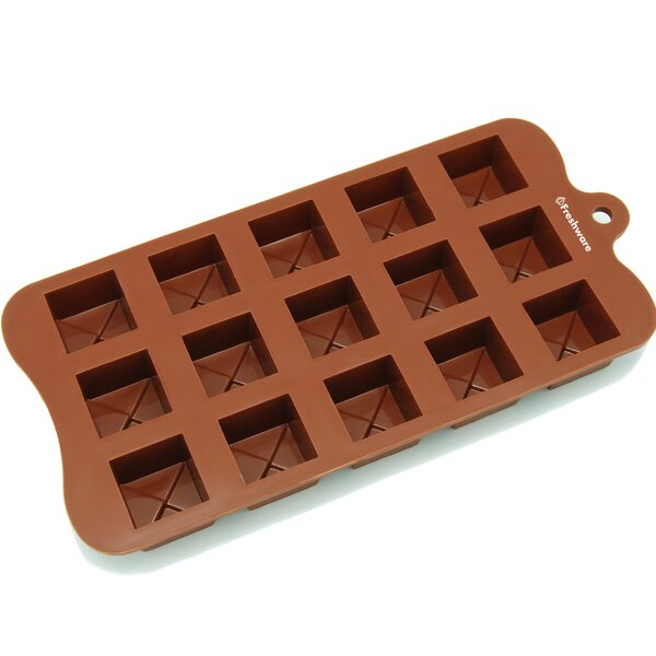 15 Cavity Tiered Square Silicone Mold Pan by Freshware