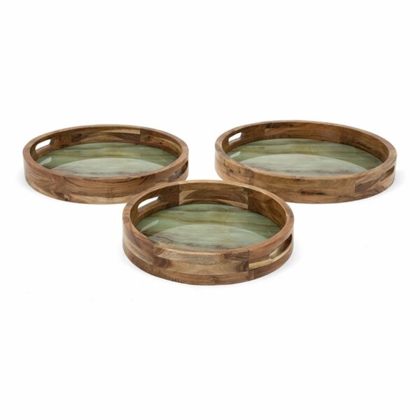 Astaire 3 Piece Serving Tray Set by Foundry Select