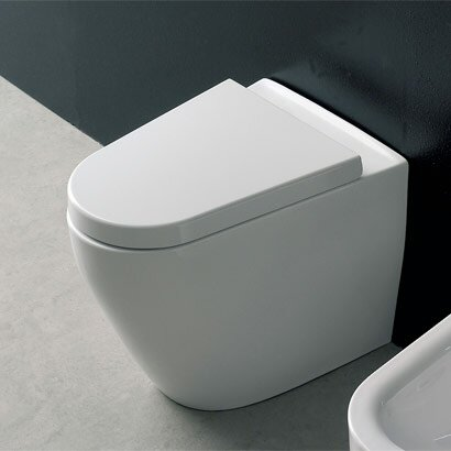 Tizi Floor Mounted 1.3 GPF Elongated Toilet Bowl by Scarabeo by Nameeks