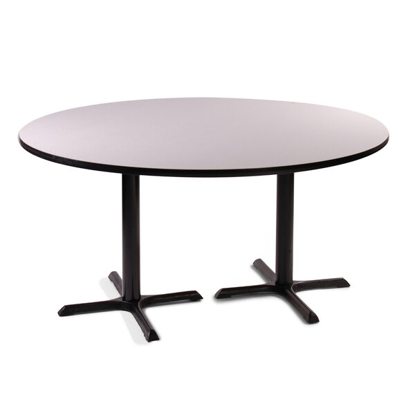 High Round Bar and Café Table with 2 Cross Bases and 2 Columns by Correll, Inc.