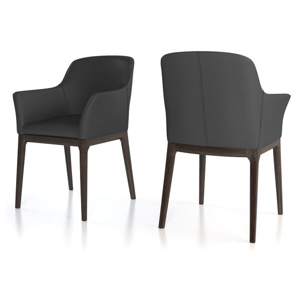 Howell Genuine Leather Upholstered Dining Chair by 17 Stories