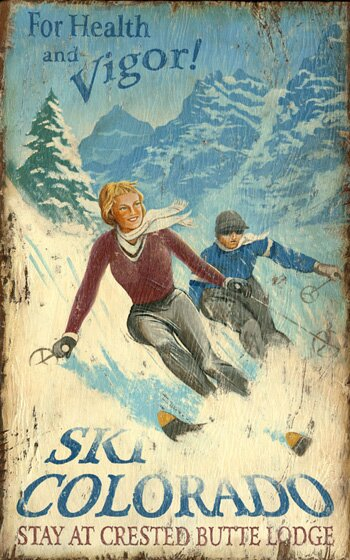 Ski Colorado Vintage Advertisement Plaque by Millwood Pines