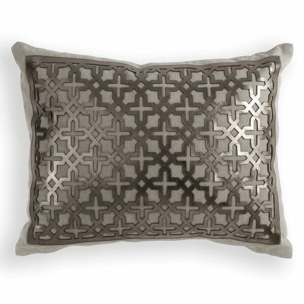 Lubec Leather Lumbar Pillow by House of Hampton