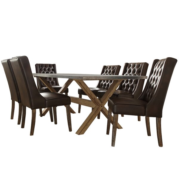Peterson 7 Piece Dining Set by Union Rustic