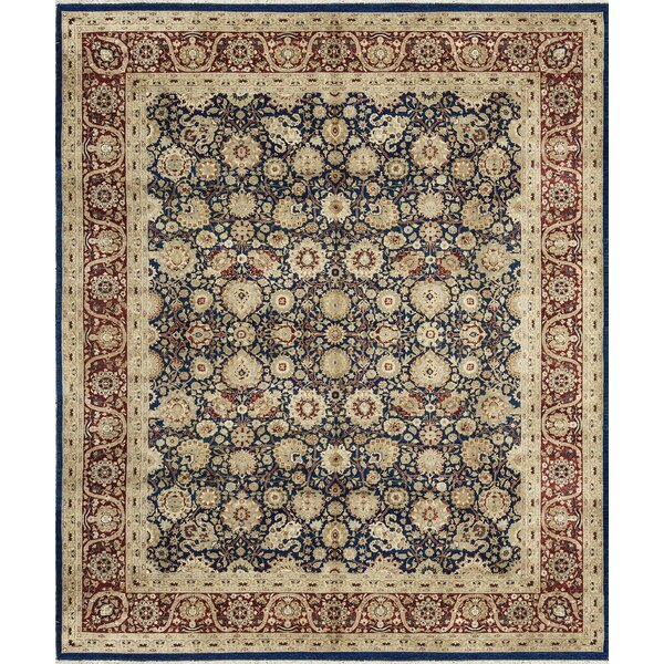 One-of-a-Kind Hand-Knotted Wool Navy/Red Area Rug by Bokara Rug Co., Inc.