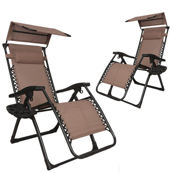 Skinner Patio Lounge Zero Gravity Chair (Set of 2) by Freeport Park