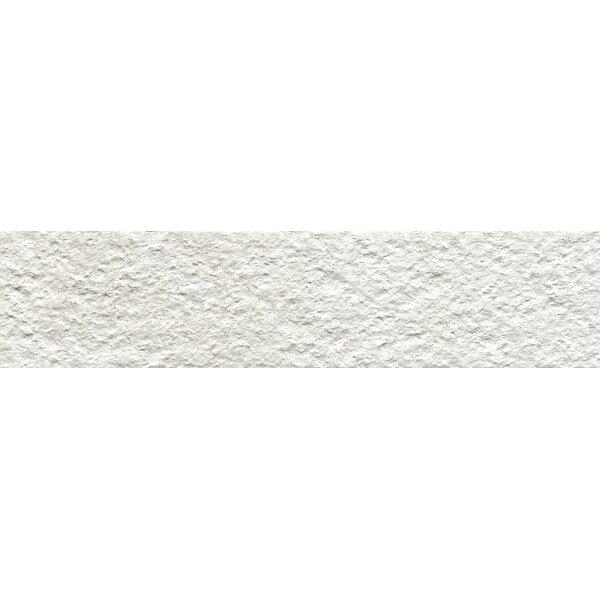 Metaphor 3 x 12 Porcelain Splitface Tile in White by Emser Tile