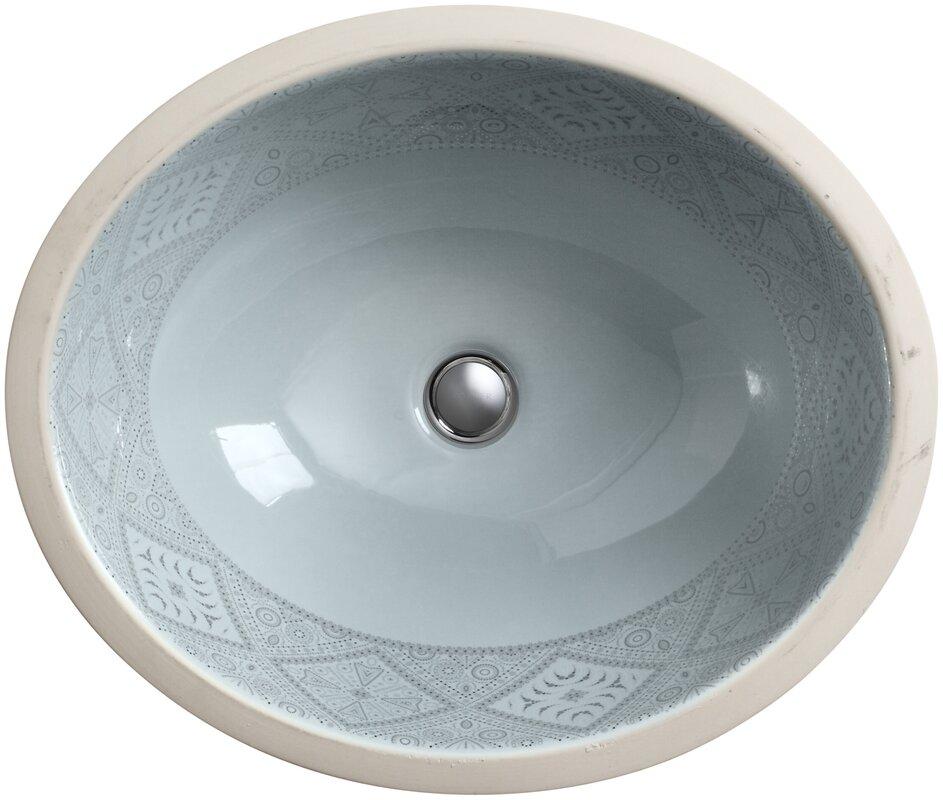 K 14218 Sr1 K7 Kohler Caravan Ceramic Oval Undermount