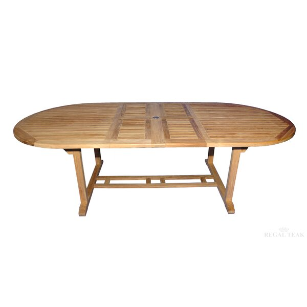 Double Extendable Teak Dining Table by Regal Teak