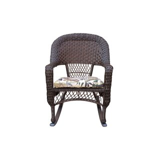 Barbrook Resin Wicker Rocking Chair With Cushion