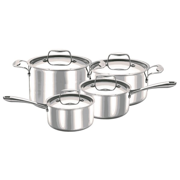 Cosette 8 Piece Integral Stainless Steel Cookware Set by Symple Stuff