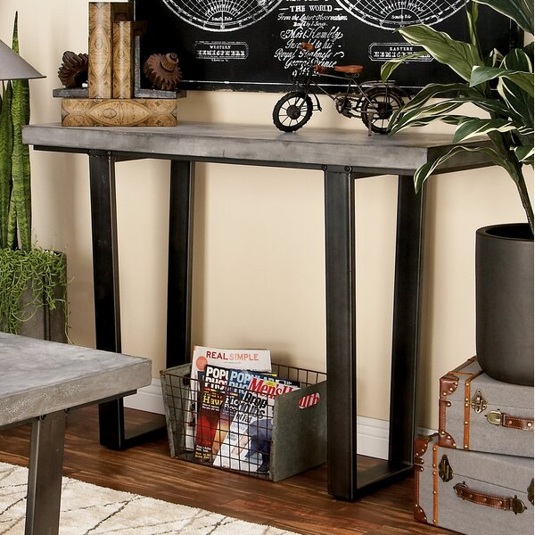 Wood Console Table by Cole & Grey