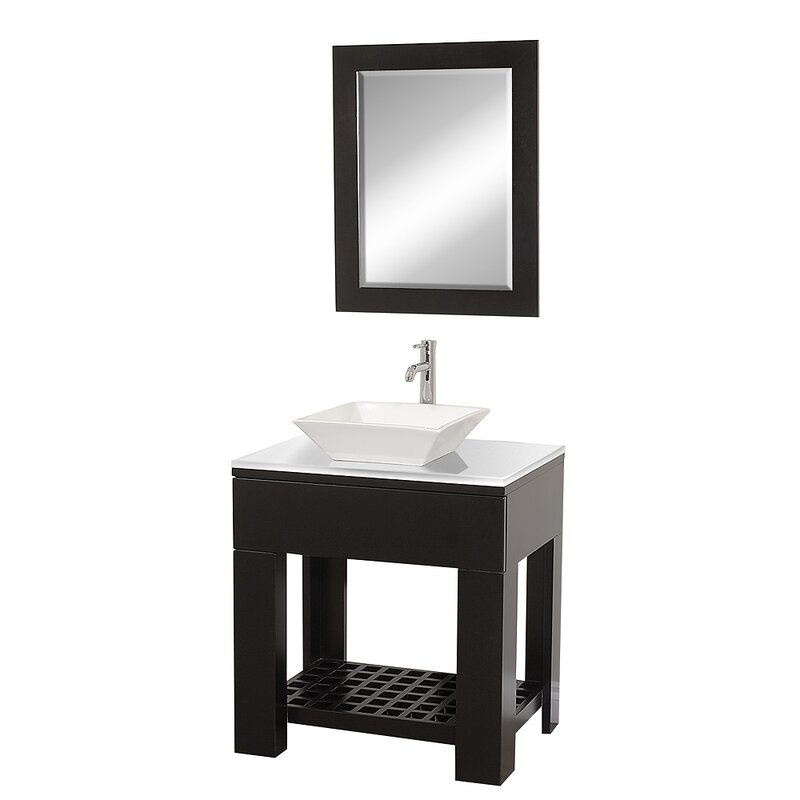Zen II 30 Single Bathroom Vanity Set With Mirror