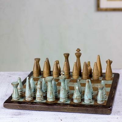 Unique Mexican Chess Game Set by Novica