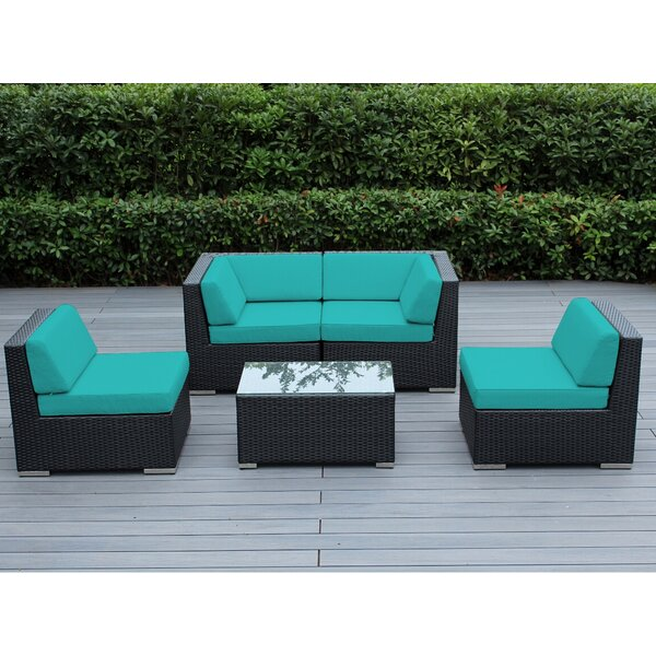 Baril 5 Piece Sectional Set with Cushions by Wade Logan
