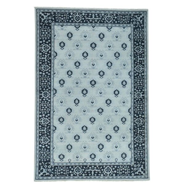 One-of-a-Kind Organ Hand-Knotted Green Area Rug by One Allium Way