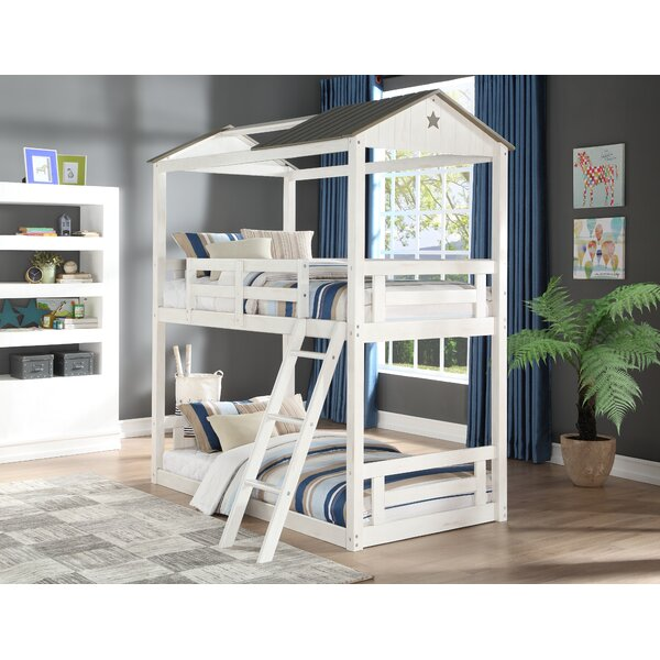 Behrens Cottage Twin Over Twin Bunk Bed by Harriet Bee