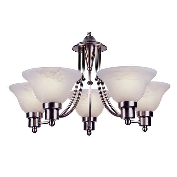 Newent 5 - Light Shaded Classic / Traditional Chandelier By Charlton Home