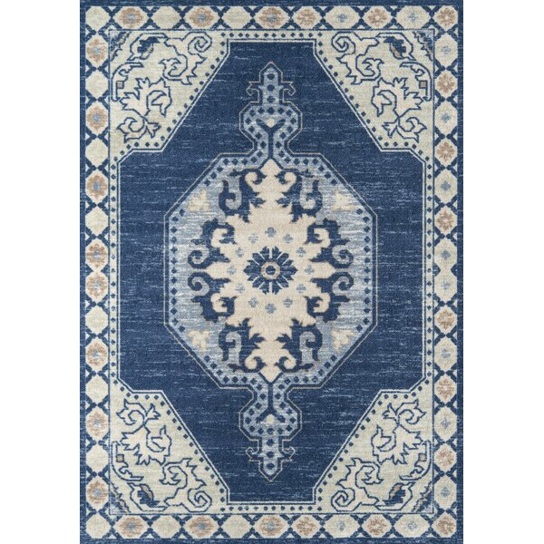 Landers Navy Area Rug by World Menagerie