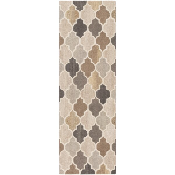 Billmont Hand-Tufted Neutral/Brown Area Rug by Alcott Hill
