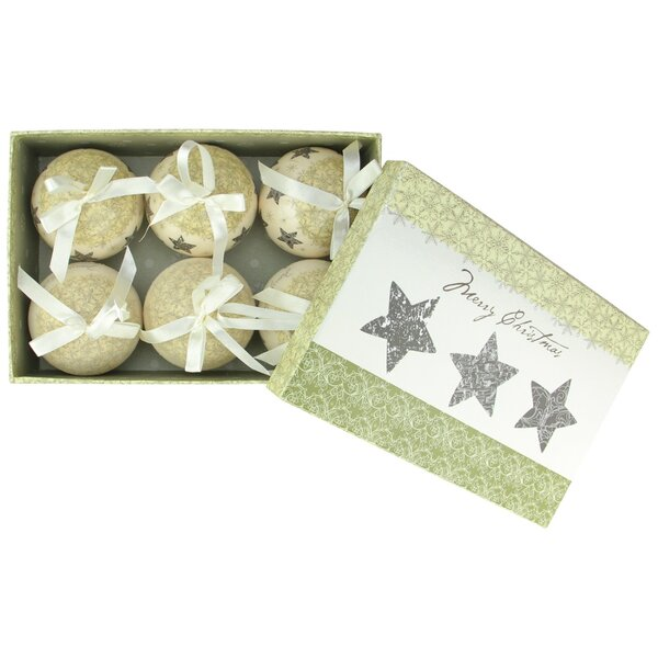 6 Piece Ball Ornament Set by Northlight Seasonal