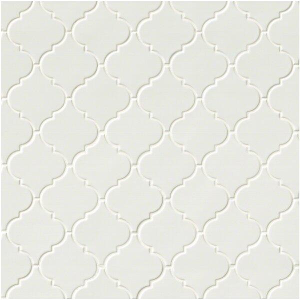 Arabesque Ceramic Mosaic Tile in Whisper White by MSI
