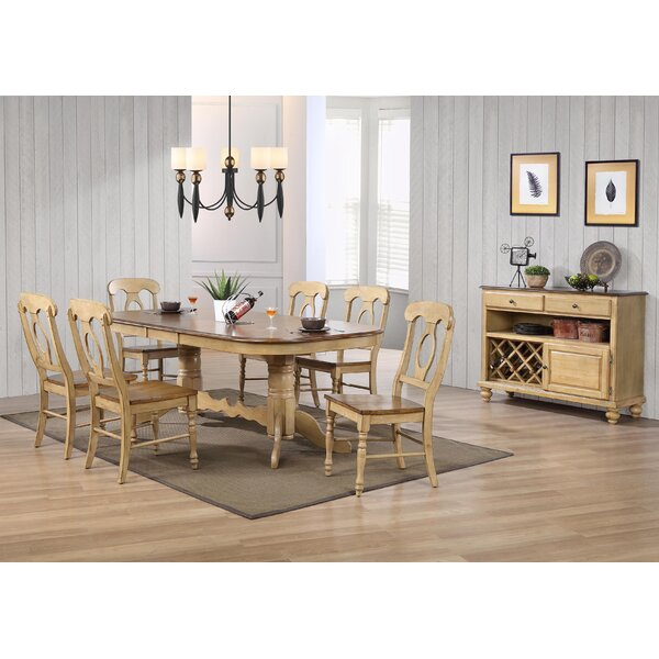 Canoga 8 Piece Dining Set by Loon Peak