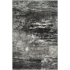 Costa Mesa Black, Silver/White Area Rug