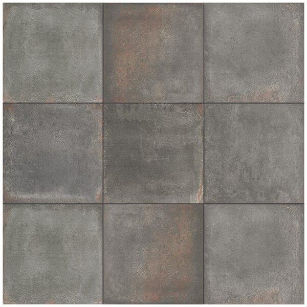 Relic 8.75 x 8.75 Porcelain Field Tile in Notte by EliteTile