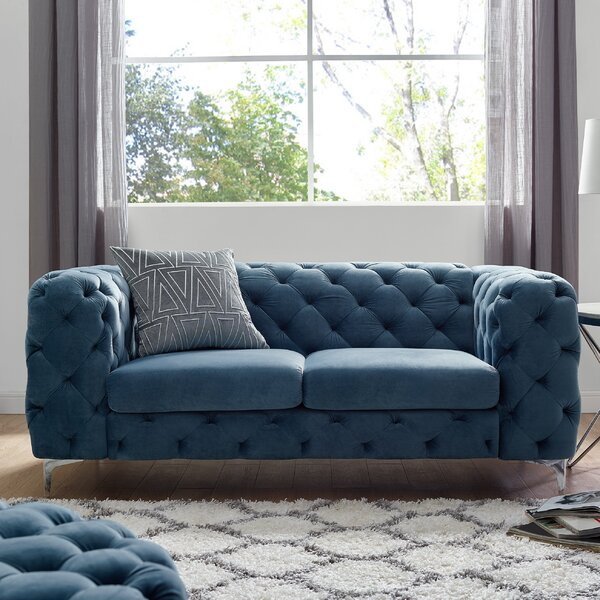 Stay Up To Date With The Newest Trends In Koger Chesterfield Loveseat by House of Hampton by House of Hampton