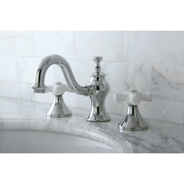 Vintage Widespread Lavatory Bathroom Faucet with Brass Pop-Up