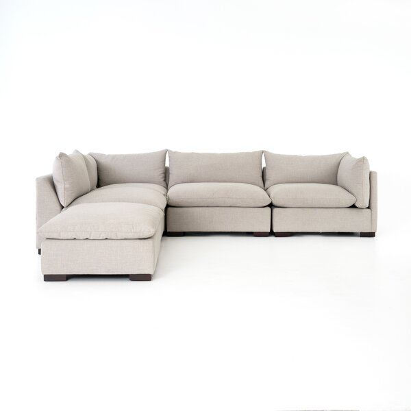 Check Price Southwold 4-Piece Left Hand Facing Sectional With Ottoman