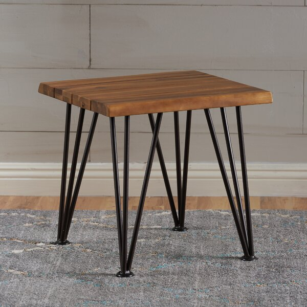Yunel Outdoor Wood End Table by Home Loft Concepts