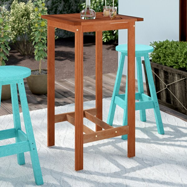 Eulalie Wooden Bar Table By Sol 72 Outdoor
