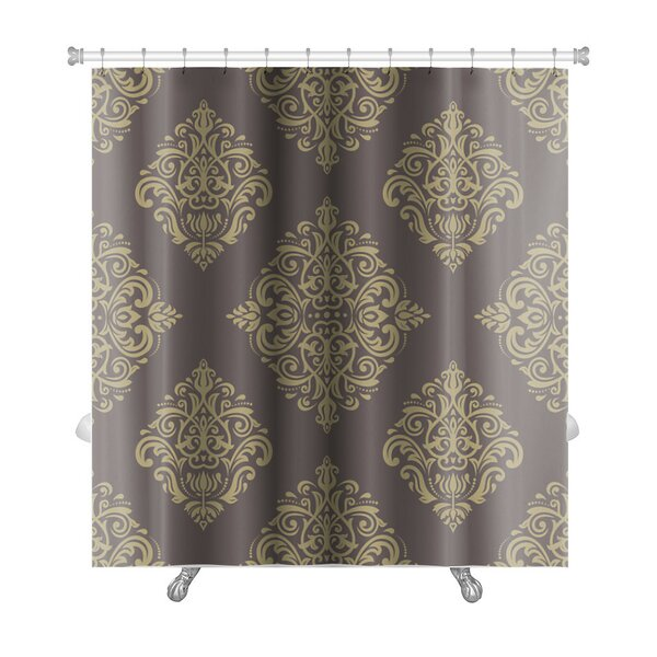 Primo Damask Fine Traditional Fine Ornament Oriental Elements Premium Shower Curtain by Gear New
