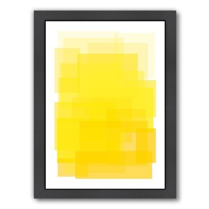 Libra Yellow Ombre Framed Graphic Art by Mercury Row