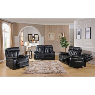Muoi Leather Match Reclining Living Room Set by Red Barrel Studio®