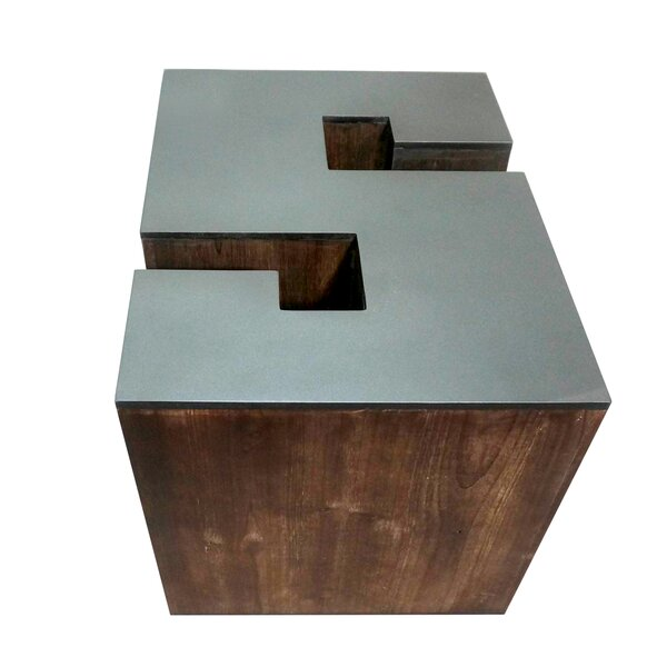 Letter-shaped (S) Wooden Accent Stool by Jeco Inc.