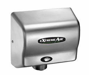 EXT Series 540W Max Hand Dryer in Satin Chrome by American Dryer