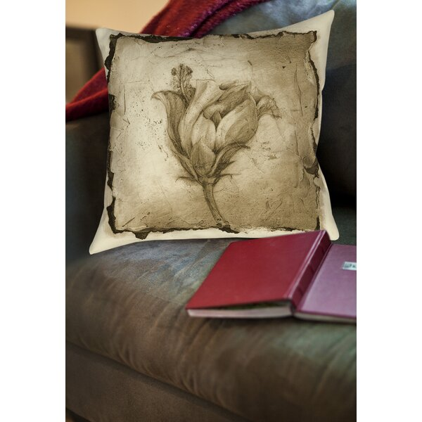 Floral Impression 8 Printed Throw Pillow by Manual Woodworkers & Weavers