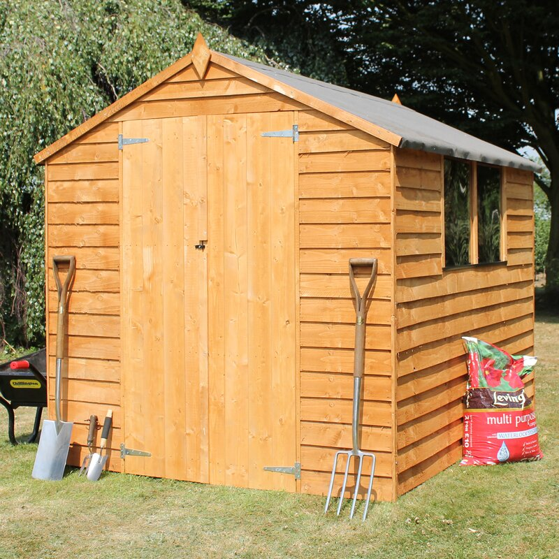 6 Ft. W X 8 Ft. D Overlap Apex Wooden Garden Shed
