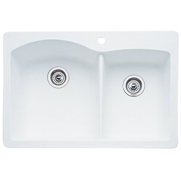 Diamond 33 L x 22 W Bowl Drop-In Kitchen Sink by Blanco