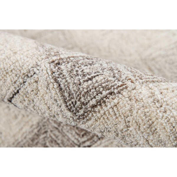 Harmond Hand-Tufted Wool Beige Area Rug by Ebern Designs