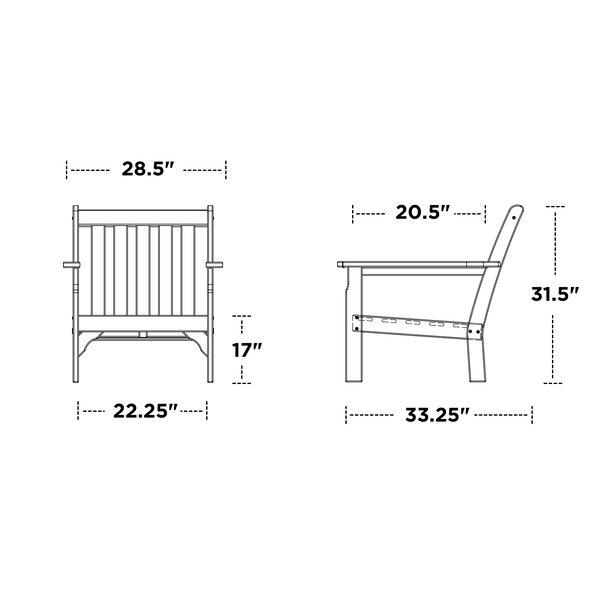 Vineyard Deep Seating Chair by POLYWOOD POLYWOOD®