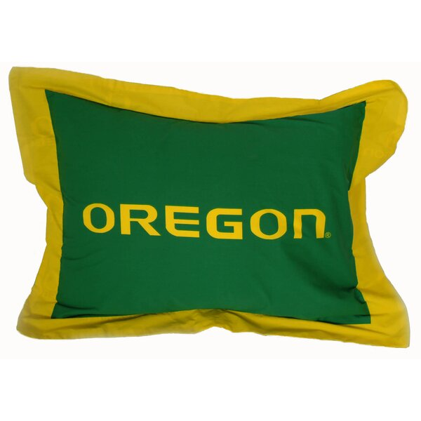 NCAA Oregon Pillow Sham by College Covers