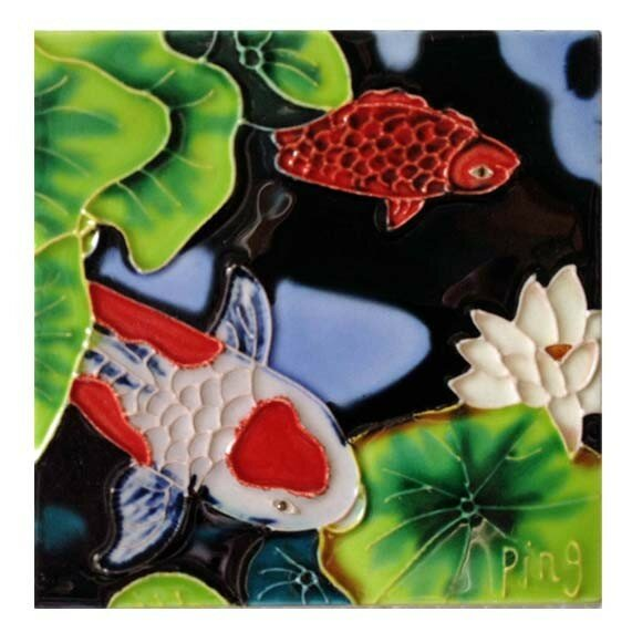White Fish Red Dots Wall Decor by Continental Art Center