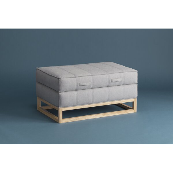 Denim Storage Ottoman